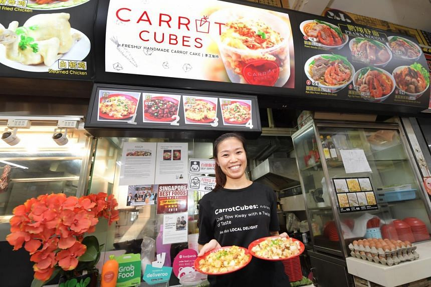 To fulfil her father's dream of travelling, Ms Claire Huang gave up her job selling corporate gifts to fry carrot cake.