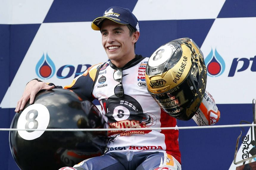 Marc Marquez's (pictured) win in Buriram gives him an insurmountable 110-point lead over closest rival Andrea Dovizioso with four races left in the season.
