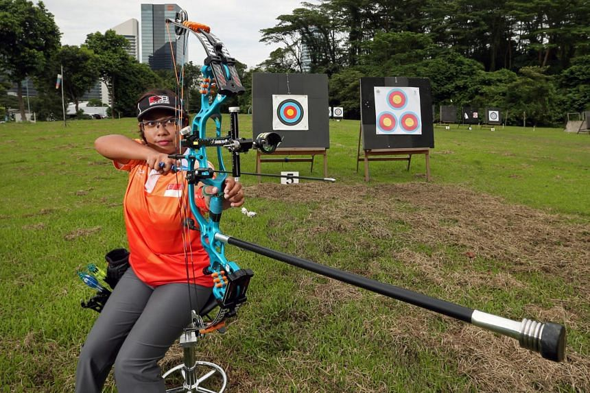 """""""I feel very proud and honoured to bring Singapore to the top of the world in archery,"""" said Singapore's Nur Syahidah Alim."""