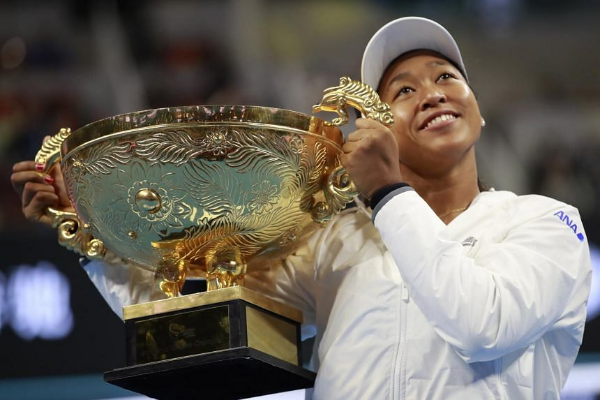 Naomi Osaka (pictured) continued her late season resurgence on Oct 6 with a victory over current No. 1 Ashleigh Barty in Beijing's China Open final.