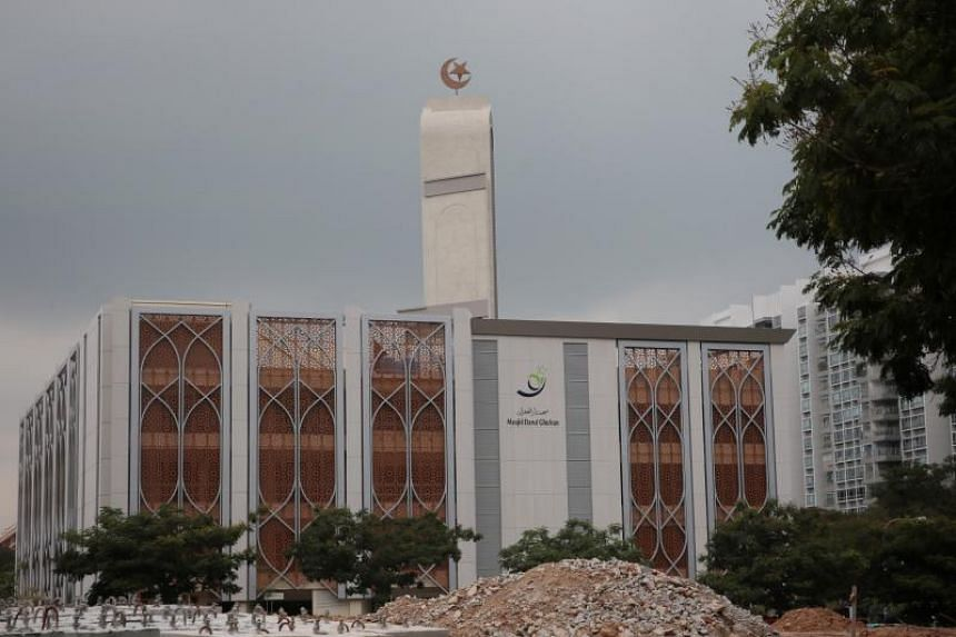 A photo taken on April 20 shows Darul Ghufran mosque in Tampines on the day of its official reopening.