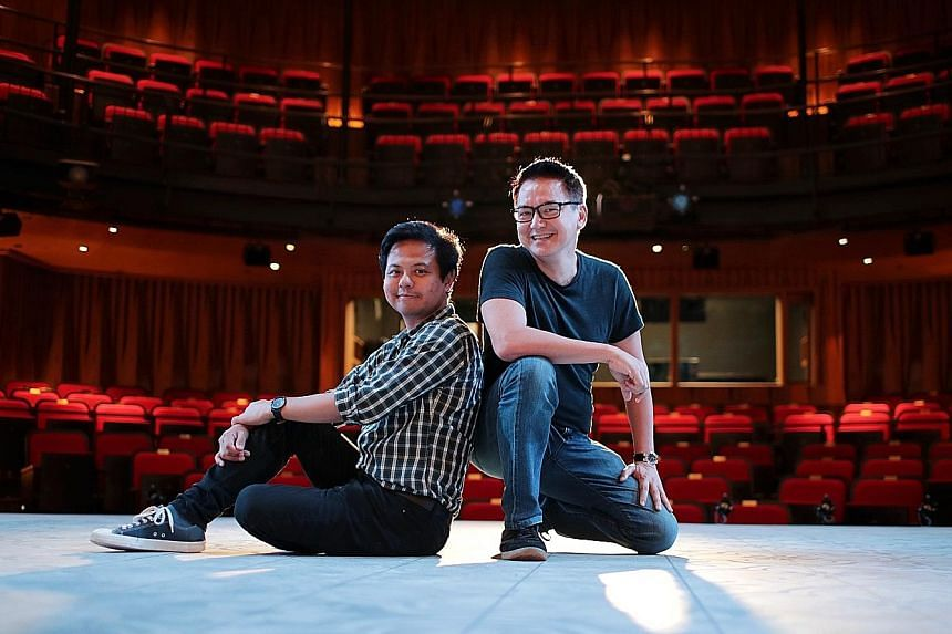 Multilingual play Merdeka, written by playwright Alfian Sa'at (left) and co-directed by Glen Goei (right), looks at how Singapore's history is being written as it weaves together stories from across 150 years, told from the ground.