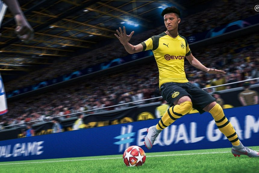 Screengrab from the Fifa 20 football simulation video game.