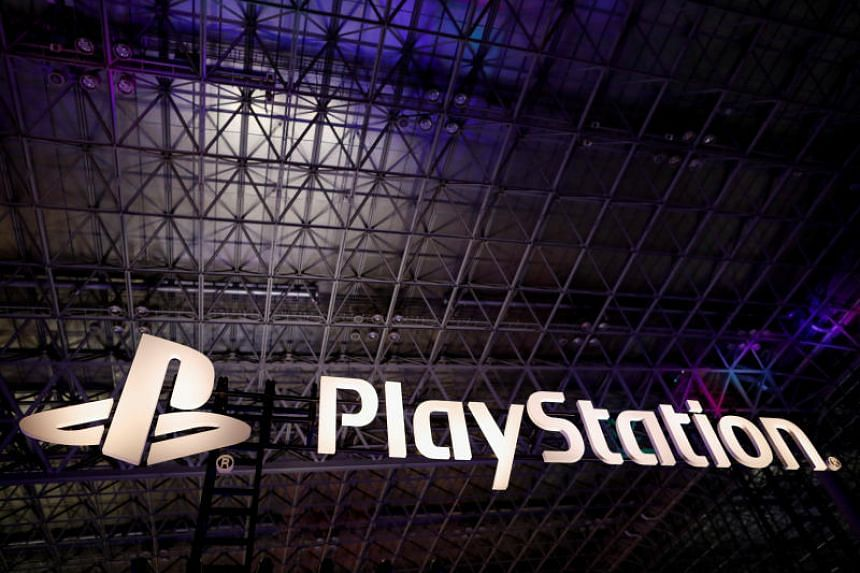 The logo of Sony PlayStation is displayed at Tokyo Game Show 2019 in Chiba, Japan, on Sept 12, 2019.