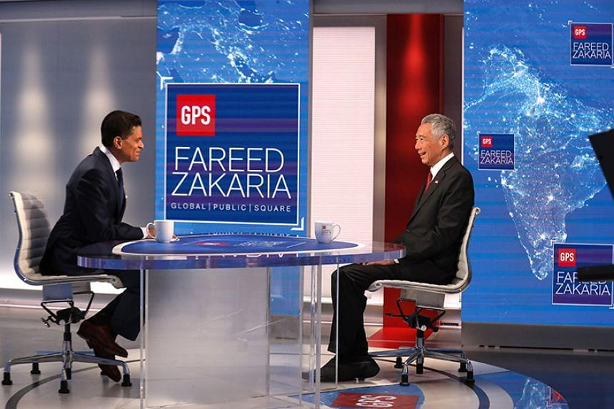 Prime Minister Lee Hsien Loong speaking to US broadcaster CNN's Fareed Zakaria in an interview which aired on Oct 6, 2019.