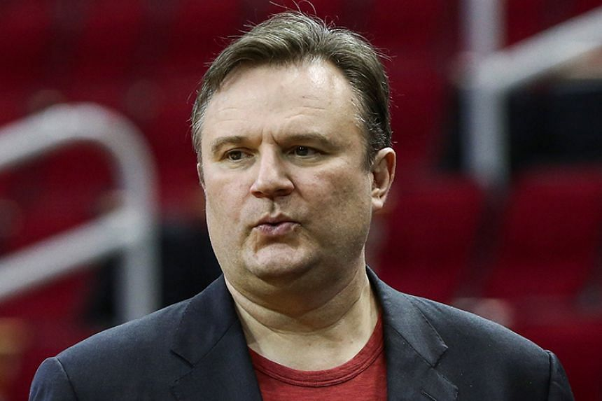 The NBA is under pressure after Mr Daryl Morey (above), general manager of the Houston Rockets, tweeted an image of a slogan supporting Hong Kong's pro-democracy protesters.
