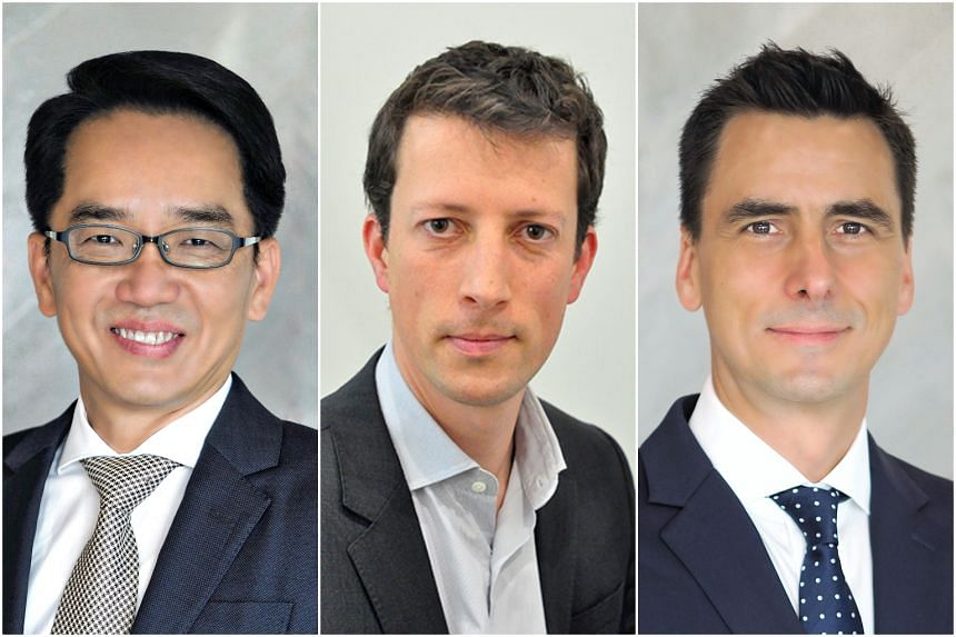 (From left) Mr Jeremy Ong, Mr Julien Callard and Mr Mauricio Coarasa. Mr Ong and Mr Coarasa's appointments are effective immediately while Mr Callard will start on Nov 1, 2019.