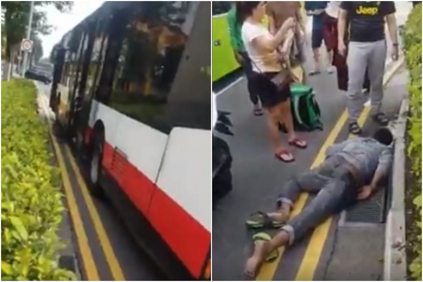 The accident happened at the junction of Sembawang Way and Sembawang Drive, with a video capturing the aftermath circulating on Facebook.