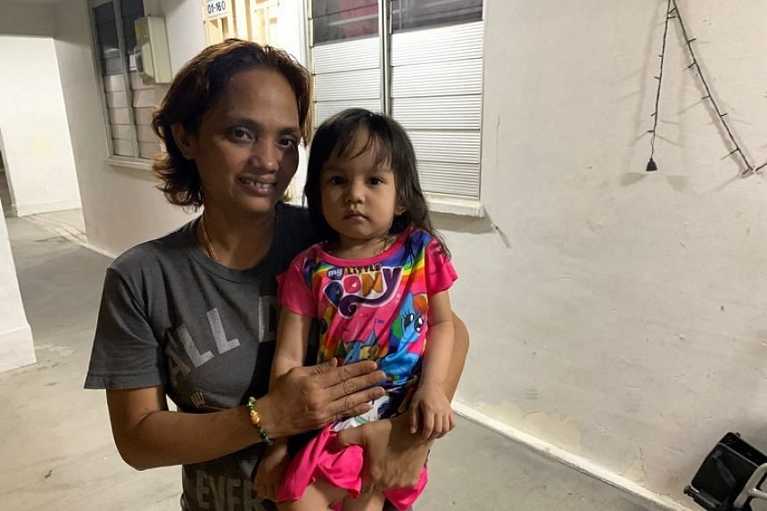 Madam Siti Aisah with her daughter Syahirah, who was knocked down by a PMD rider on Oct 6, 2019. The incident was captured in a video uploaded to social media by her father.