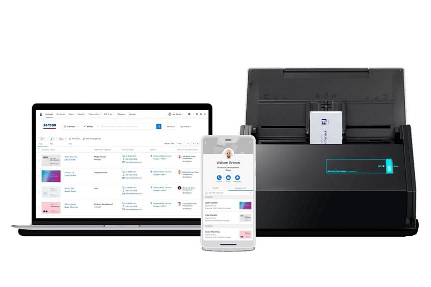 Users of Sansan's platform can use either a mobile application or scanner to digitise paper business cards. Information extracted from the business cards are organised and stored on a centralised database.
