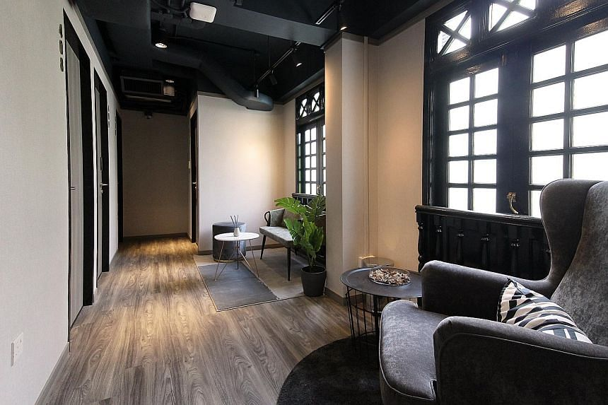 """Above and below: ST Signature Chinatown in South Bridge Road is the first in Katrina Group's """"affordable luxury"""" line of co-living hotels. It offers spaces for guests to work and mingle, as well as a smart self-check-in system, and will be closely fo"""