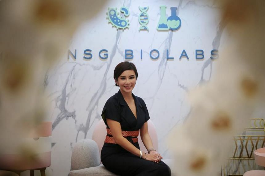Daphne Teo, CEO and founder, NSG BioLabs, poses for a photo at the lab co-working space on Oct 9, 2019.