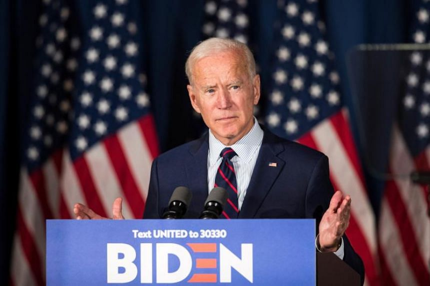Democratic presidential candidate, former US Vice-President Joe Biden speaks during a campaign event on Oct 9, 2019 in Rochester, New Hampshire.