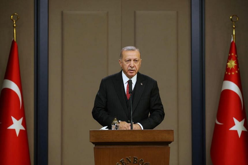 Turkish President Tayyip Erdogan said Ankara will send the Syrian refugees in Turkey to Europe if European countries label the country's military incursion in Syria as an occupation.