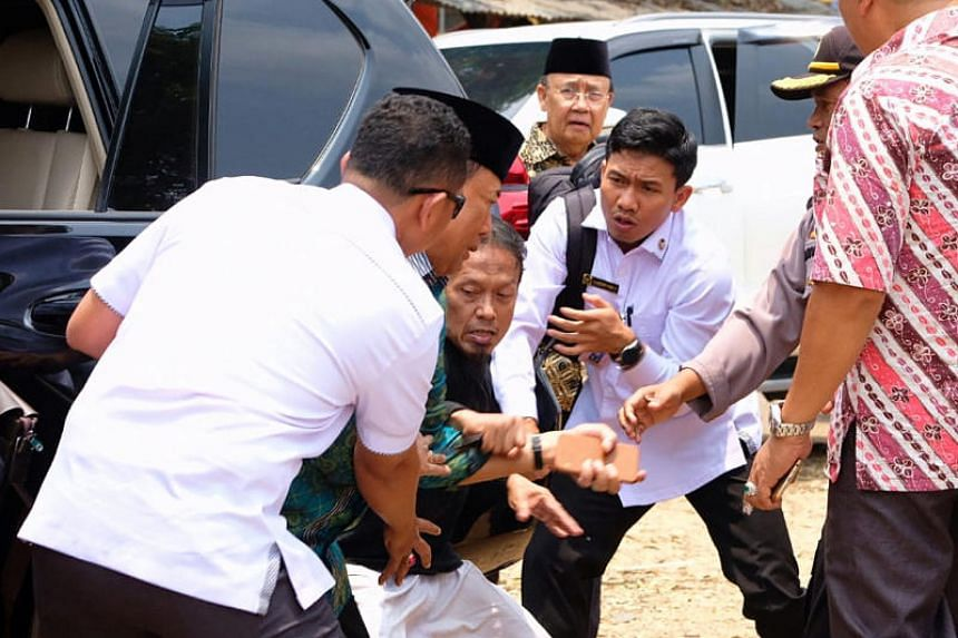Indonesia's chief security minister Wiranto was reportedly alighting from a vehicle when he was attacked.