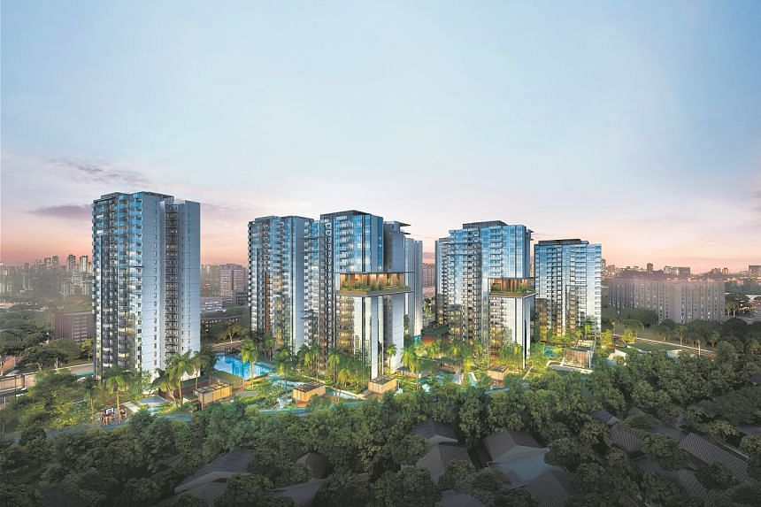 An artist's impression of  residential development JadeScape. PHOTO: QINGJIAN REALTY
