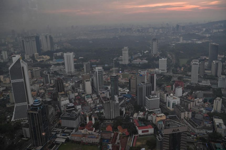 The skyline of Kuala Lumpur on March 11. Cost of living is still topping voter grouses despite the change of government.