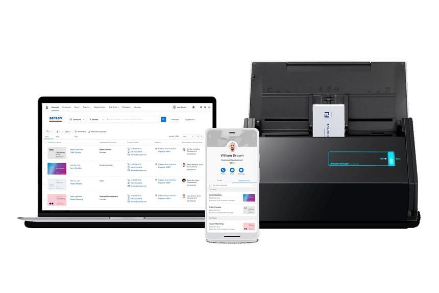 Users of Sansan's platform can use a mobile application or scanner to digitise physical business cards. Information extracted from the cards is then organised and stored on a centralised database.