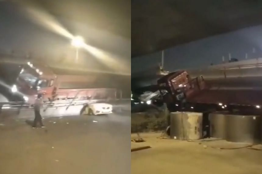 The accident occurred around 6pm in Wuxi city, about 100km north-west of Shanghai, according to state broadcaster CCTV.