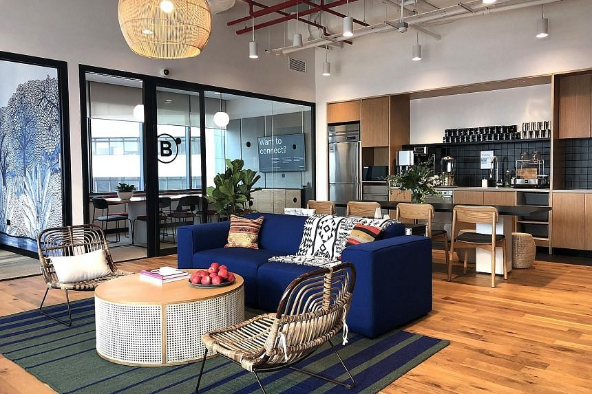 WeWork's newest space, which was launched yesterday, is located at MYP Centre in Battery Road, in the heart of the Central Business District. It occupies around 14 floors spanning 114,000 sq ft. The two upcoming offices are at UE Square in Clemenceau