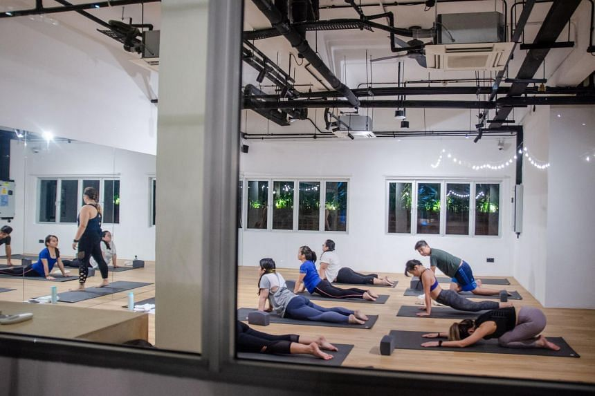 Hmlet Cantonment hosts daily yoga classes at its wellness studio
