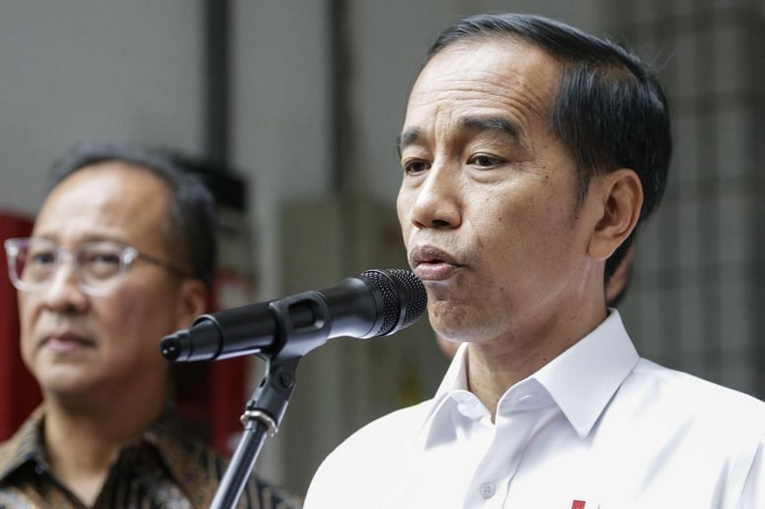 Indonesian President Joko Widodo visited Coordinating Political, Legal and Security Affairs Minister Wiranto at the Gatot Subroto Army Hospital (RSPAD) in Central Jakarta.