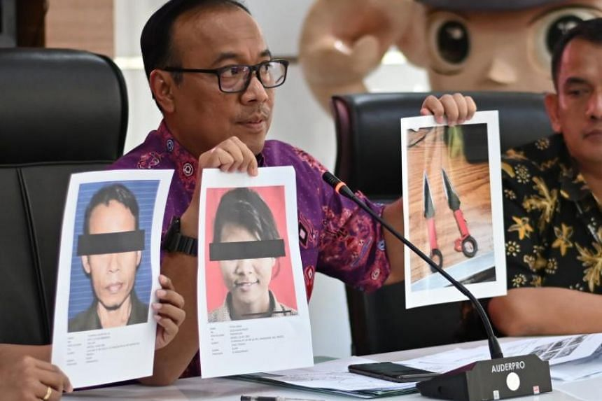 Police spokesman Dedi Prasetyo briefs journalists in Jakarta on Oct 11, 2019, about the attack on Indonesia's chief security minister Wiranto.