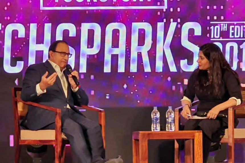 Minister-in-charge of Trade Relations Mr S Iswaran sharing more about the Global Innovation Alliance (GIA) network at YourStory's TechSparks, one of India's largest start-up events on Oct 11, 2019.