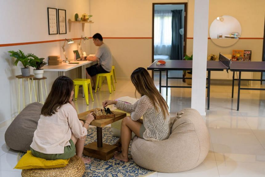 Co-living company Commontown's  Sixth Avenue unit in Bukit Timah, which opened in September 2019.