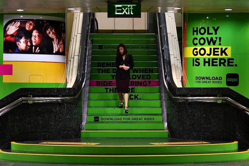 Advertisements at Orchard MRT station.