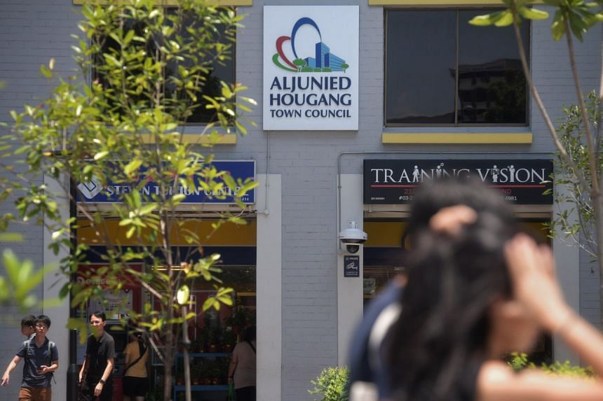 The Aljunied-Hougang Town Council's (AHTC) main office in Hougang Central. A High Court judgment had earlier found three Workers' Party MPs liable for damages suffered by AHTC.
