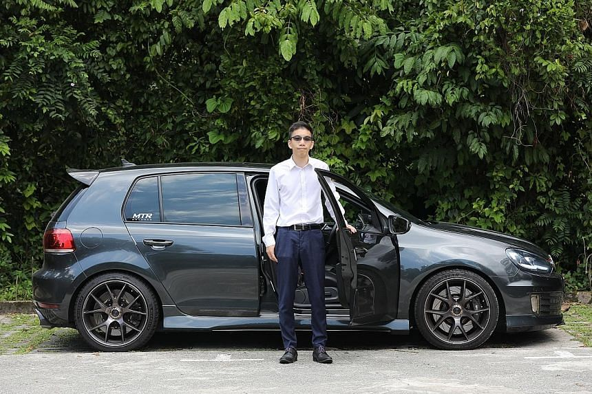 On Oct 1, Mr Chalmers Chin brought an uncontrolled car, whose driver had fallen unconscious, to a halt by allowing it to hit his eight-year-old Volkswagen Golf GTI.