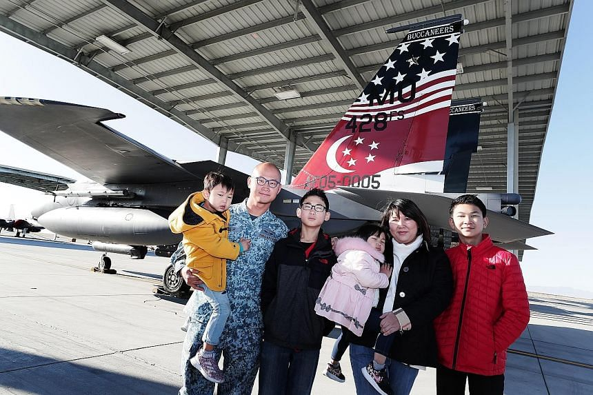 Air force engineer Lee Ban Chin, his wife Angelia Giam and their children (from left) Eytan, Damir, Fayth and Clemens have been living at the Mountain Home Air Force Base in Idaho for two years now.