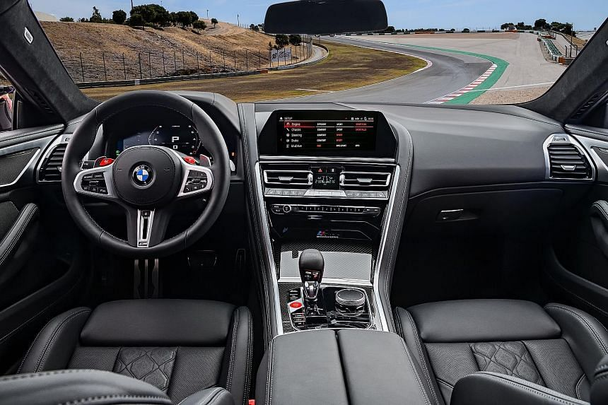 The BMW M8 Competition Convertible and Coupe top out at an electronically limited 250kmh, but will crack 305kmh if fitted with BMW's optional M Driver's package.