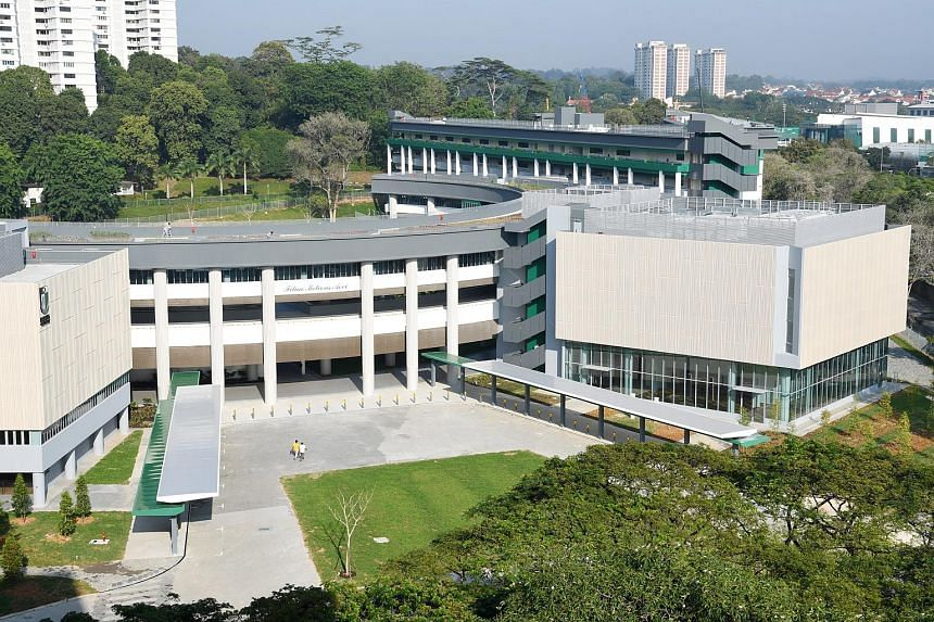 A view of the new Braddell campus of Raffles Girls' School. The school will be shifting from its current Anderson Road site to Braddell in October.