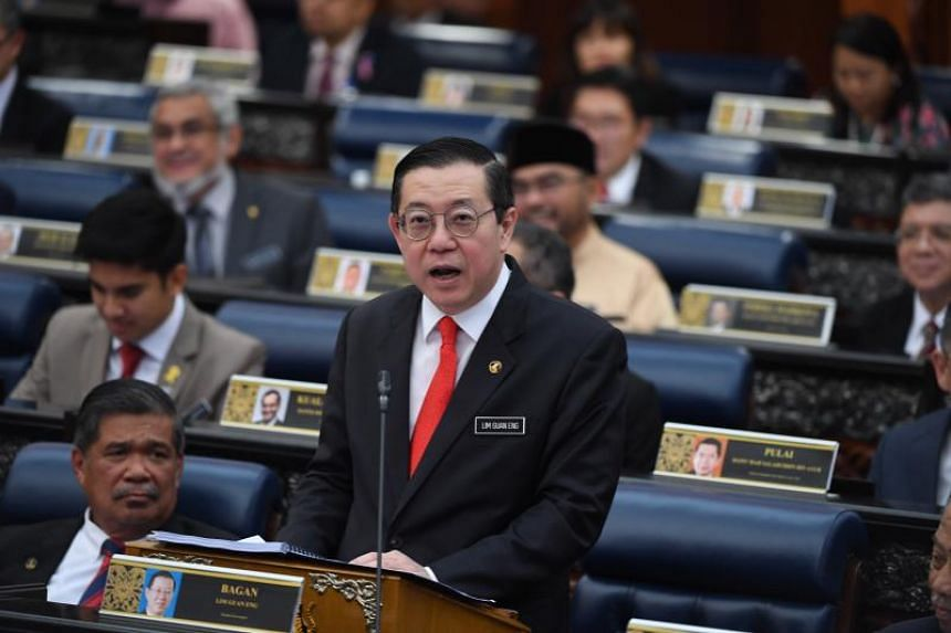 Malaysian Finance Minister Lim Guan Eng speaks during the 2020 budget presentation at the Parliament on Oct 11, 2019.