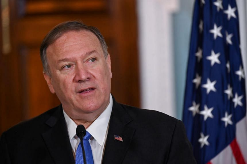 US Secretary of State Mike Pompeo delivers statements at the State Department in Washington, DC on Oct 9, 2019.