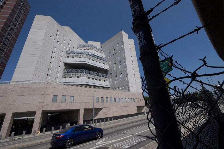 The main Immigration and Customs Enforcement (ICE) detention centre is seen in downtown Los Angeles, California.
