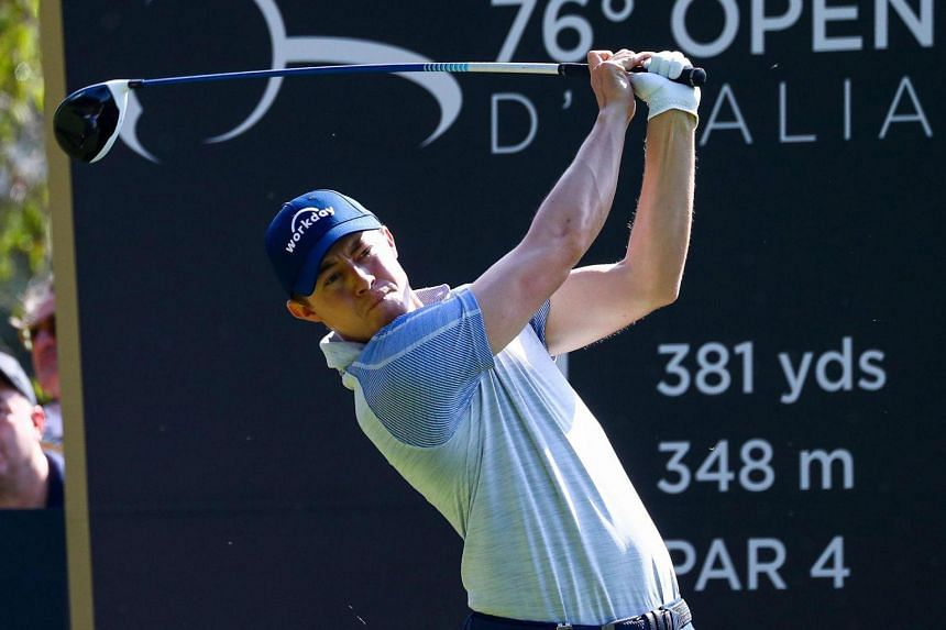 Matthew Fitzpatrick of England in action during the second round of the Golf Italian Open 2019, Rome, Italy, on Oct 11, 2019.