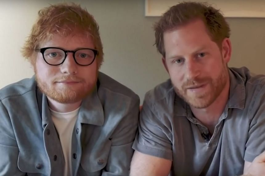 Ed Sheeran (left) and Prince Harry have joined forces to campaign for mental health issues.