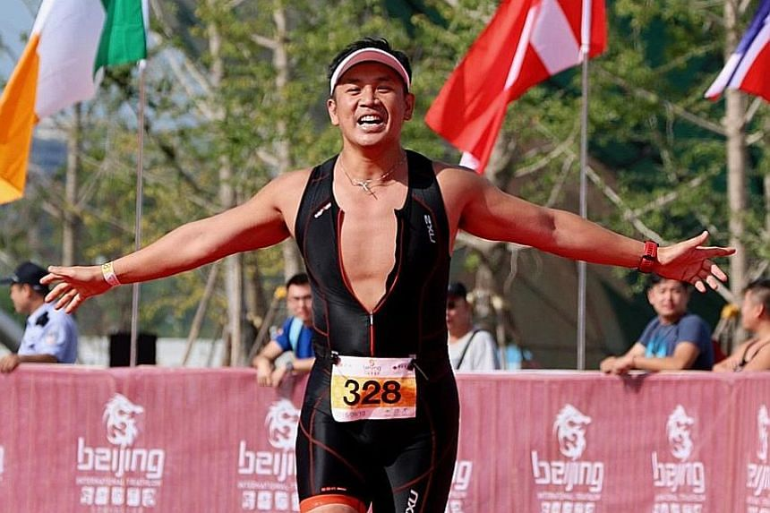 Mr Ngan has completed more than 35 marathons and Ironman races in more than 20 countries, including (from top) the Beijing Triathlon, South Pole Marathon, and North Pole Marathon. Mr Patrick Ngan went from investment banker to co-founder of QFPay. Th