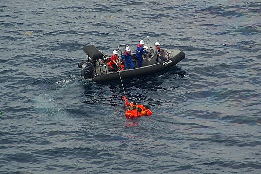 The Japanese coast guard said last Monday that it rescued about 60 North Korean crew members from a fishing boat that sank after it collided with the patrol boat that was chasing it out of Japanese waters.