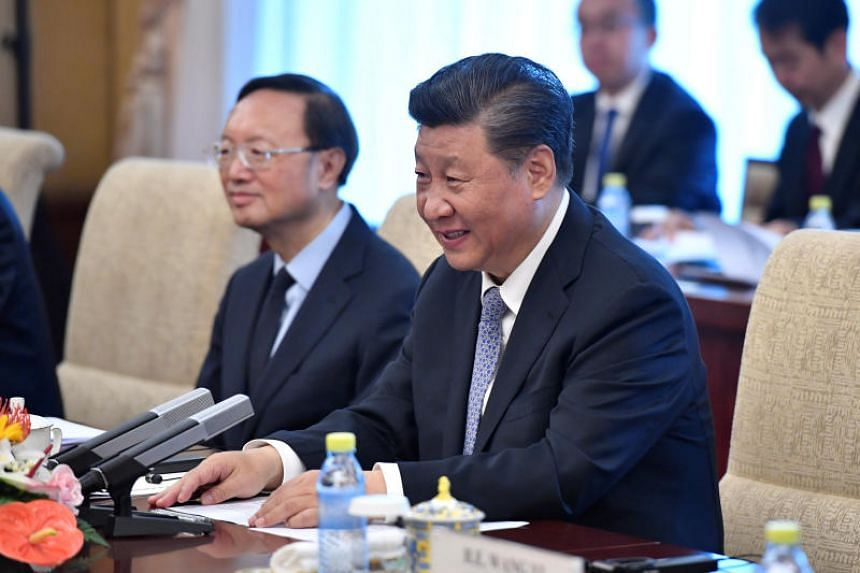 """The Chinese Communist Party launched the app, called """"Study the Great Nation,"""" in January. The name is a pun because the Chinese word for study - """"xuexi"""" - contains leader Xi Jinping's family name."""
