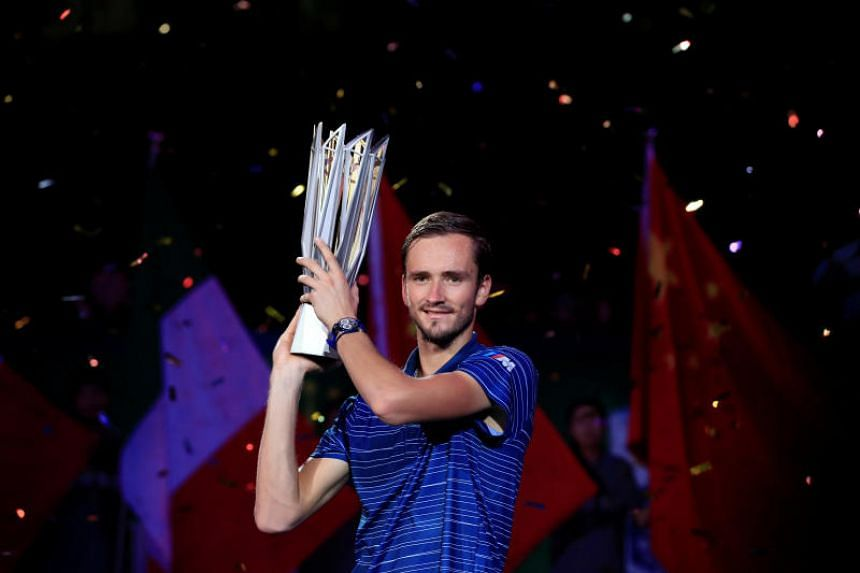 """Victory for Daniil Medvedev (above) was more evidence that he is the prime contender to join the """"Big Three"""" of Novak Djokovic, Rafael Nadal and Roger Federer."""