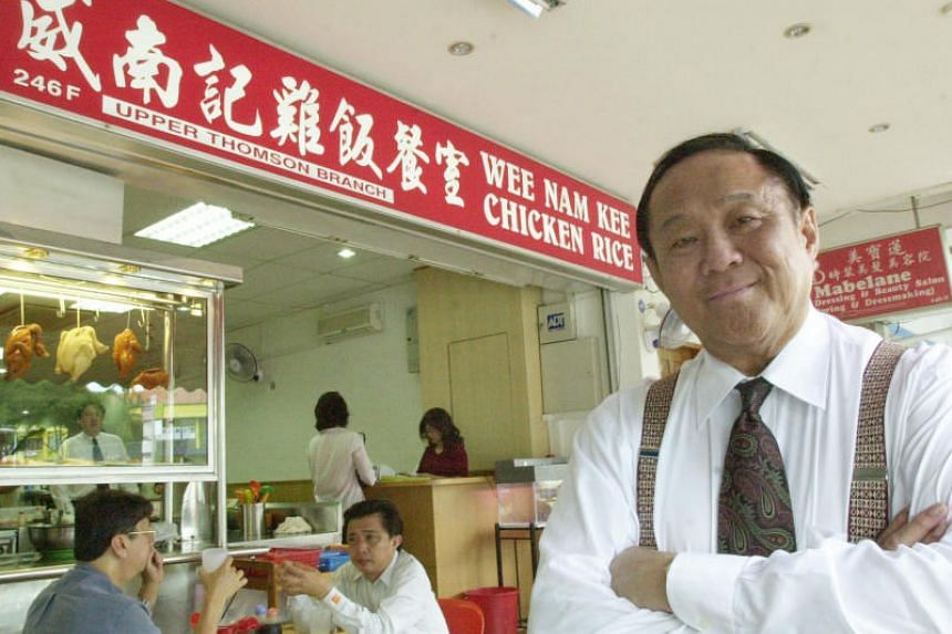 Mr Wee Toon Ouut founded Wee Nam Kee Chicken Rice in 1989 and oversaw its successful growth here.