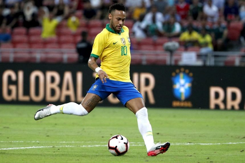 Neymar, usually deployed as a left forward, will start in central midfield at the National Stadium tonight (Oct 13), a role he is accustomed to at Paris Saint-Germain.