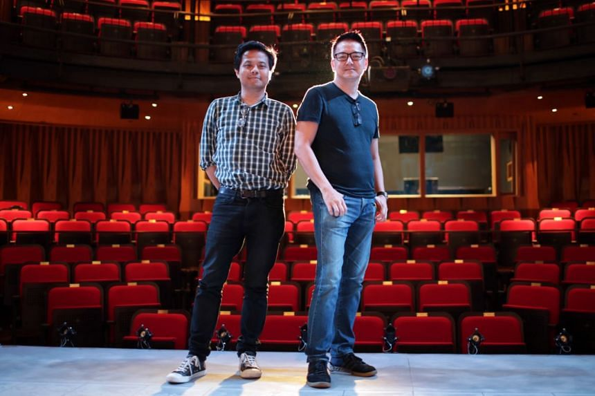 Merdeka's playwright Alfian Sa'at (left) and director Glen Goei. The new play by Wild Rice looks at the legacy of colonialism in the Bicentennial year.