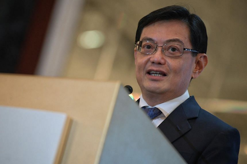 A photo taken on Oct 10 shows Deputy Prime Minister Heng Swee Keat during the Institution of Engineers, Singapore's annual dinner.