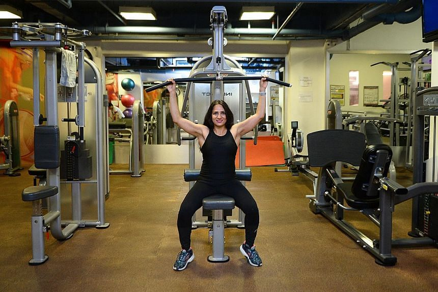 Personal trainer Neeti Raina Kaul, 44, became fascinated with working out while undergoing rehabilitation after surgery for her injured knee.