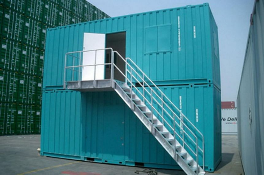 A container building seen on the website of Chinese company China International Marine Containers.